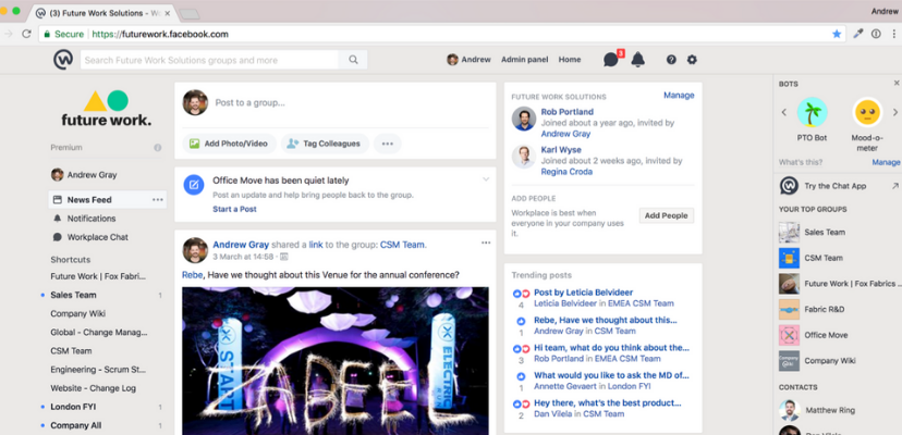 The Workplace by Facebook News Feed is Now 'By Subscription